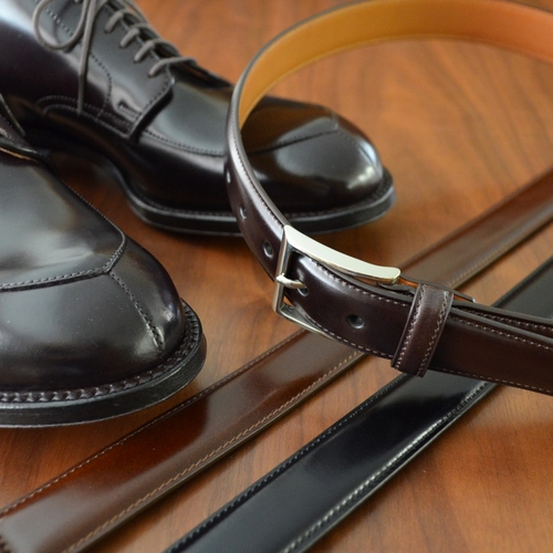 K.T.LEWISTON CORDOVAN DRESS BELT