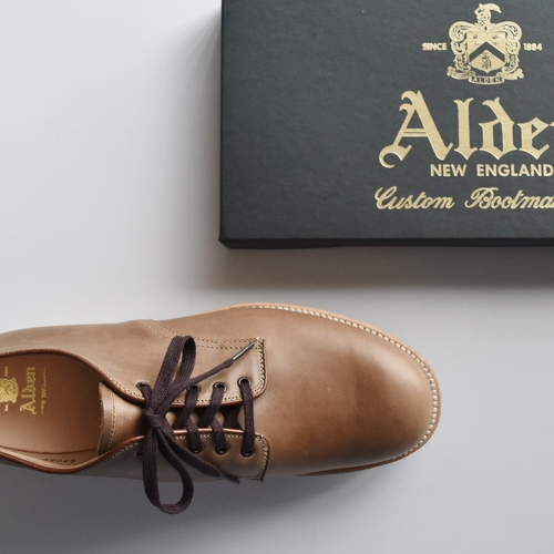 ALDEN 49084 NATURAL CHROMEXCEL PLAIN TOE OX.