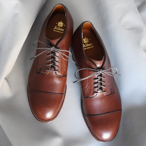 ALDEN N6511 HUNTER BROWN CAP TOE OX.