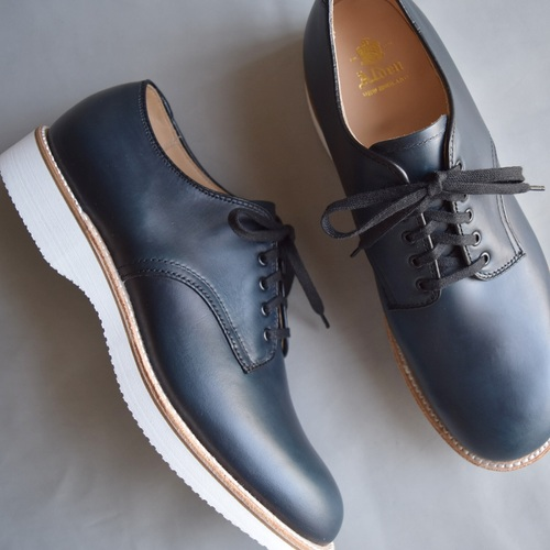 ALDEN N6404 NAVY CHROMEXCEL PLAIN TOE OX.