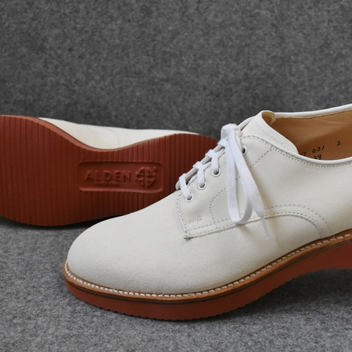 ALDEN N6439 WHITE BUCKS SUPER CUSHION SOLE