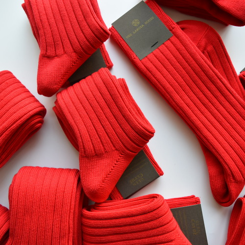HAND LINKED SOCKS 「LIMITED COLOR Xmas RED」