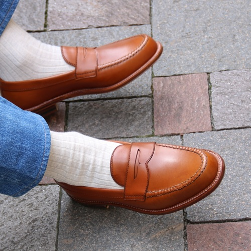 ALDEN 99266 BURNISHED TAN PENNY LOAFER