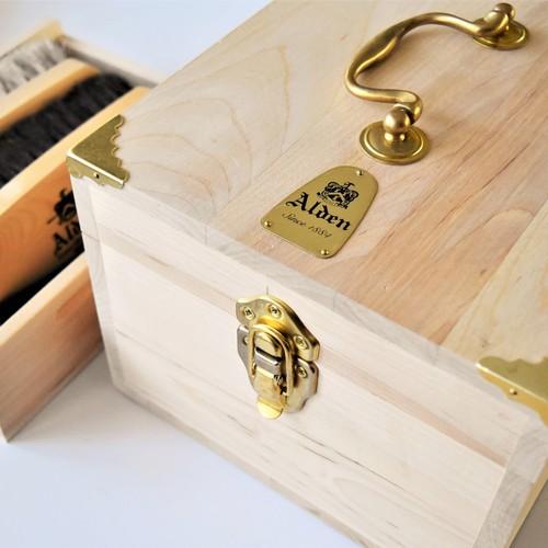 ALDEN ALA-002 WOODEN VALET BOX