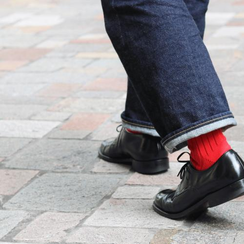 HAND LINKED SOCKS LIMITED COLOR「Xmas RED」